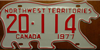 Northwest Territories Polar Bear License Plate