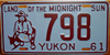 Yukon Land of the Midnight Sun License Plate