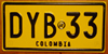 Colombia Motorcycle License Plate