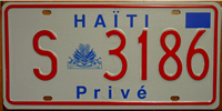 Haiti Graphical Seal License Plate
