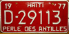 Haiti License Plate with slogan