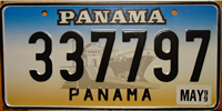 Panama Canal Locks Graphic License Plate