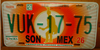 Sonora  Star Burst License Plate