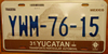 Yucatán Full Graphic Pyramid License Plate