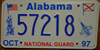 Alabama National Guard Graphic  97  License Plate