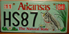 Arkansas Bass License Plate