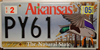 Arkansas Mallard Duck Wildlife Environmental License Plate
