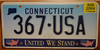 Connecticut United We Stand September 11th,  License Plate