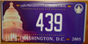 Washington D.C. 55th Inaugural License Plate