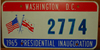 Washington D.C. Lyndon B. Johnson Inaugural License Plate