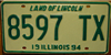 IllinoisTaxi License Plate