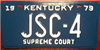 Kentucky  Supreme Court License Plate