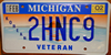 Michigan Korea War Veteran License Plate