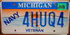 Michigan Navy Veteran License Plate