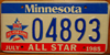 Minnesota All Star Baseball Game License Plate