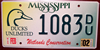 Ducks Unlimited Mississippi License Plate