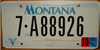Montana Flat Graphic License Plate