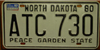 North Dakota  Peace Garden State License Plate