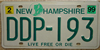Old Man of the Mountain New Hampshire License Plate