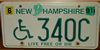 New Hampshire Handicapped wheelchair License Plate