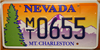 Nevada Mt. Charleston License Plate
