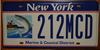New York Marine and Coastal District Lighthouse Fish License Plate