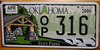Oklahoma State Parks Forest License Plate