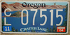 Oregon Crater Lake Park License Plate