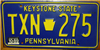 Pennsylvania Keystone Symbol License Plate