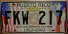 Puerto Rico 50th Anniversary Flag License Plate