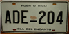 Puerto Rico Coqui Frog License Plate