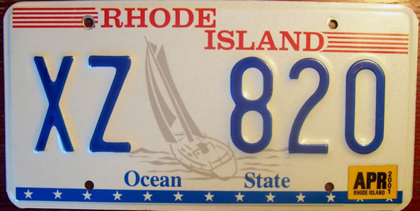 Picture Of Rhode Island License Plate