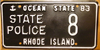 Rhode Island State Police Law Enforcement License Plate