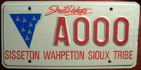 South Dakota Sisseton Wahpeton Sioux Tribe License Plate