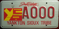 South Dakota Yankton Sioux Tribe License Plate