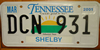 Tennessee Sunrise License Plate