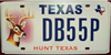 Texas Deer Hunter License Plate
