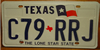Texas Lone Star Flag License Plate