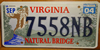 Virginia Natural Bridge License Plate
