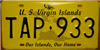 U.S. Virgin Islands Our Islands Our Home License Plate