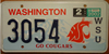 Washington State University License Plate
