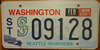 Washington Seattle Mariners License Plate