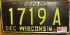 Wisconsin Dealer License Plate