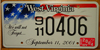 West Virginia September 11th License Plate